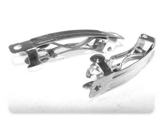 40mm silver hair pins x 2