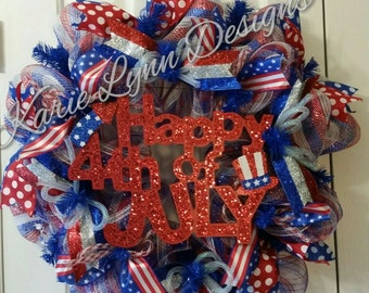 Patriotic/ 4th of July  Wreath