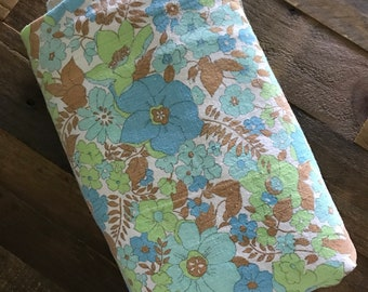Vintage 60's cotton floral blanket/ tablecloth/ curtain