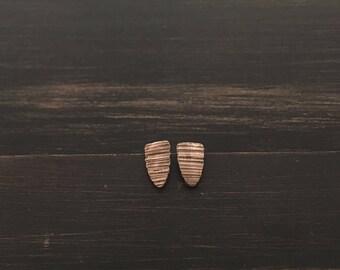 Bronze Texture Earrings