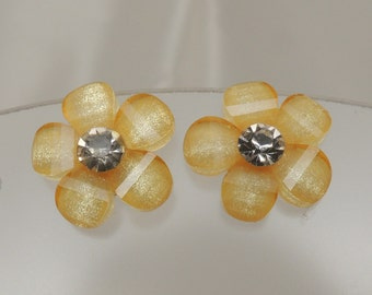 Yellow Flower Post Earring
