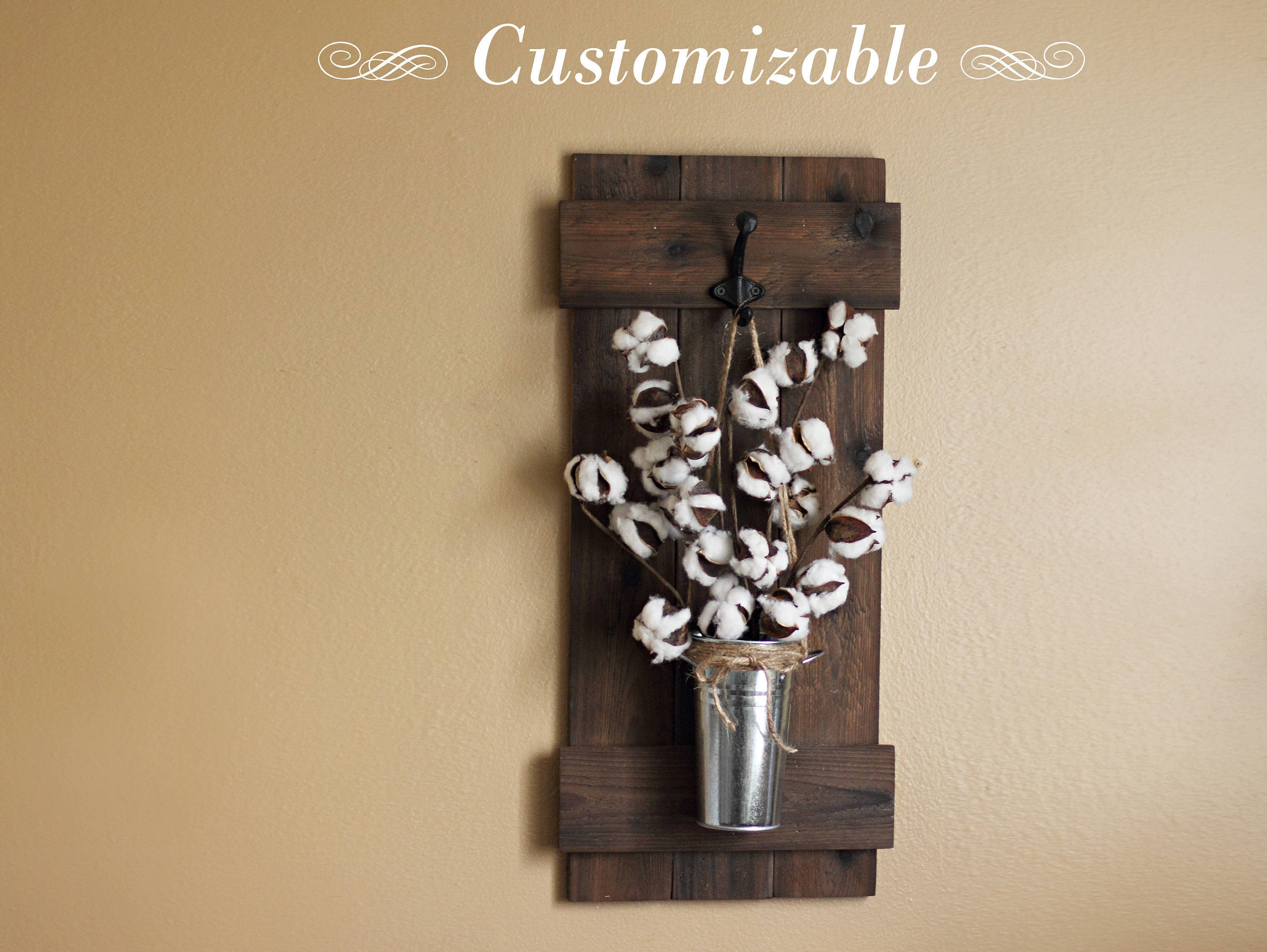 Cotton stem decor rustic wall decor wall hanging wooden zoom amipublicfo Images