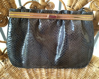 Vintage Bellido Gray Snakeskin purse