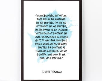 F Scott Fitzgerald F Scott Fitzgerald Quote F Scott Fitzgerald Art Watercolor Quote