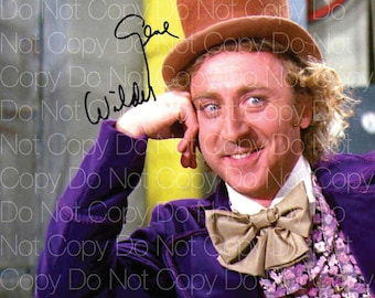 Willy Wonka and the Chocolate Factory signed Gene Wilder Charlie 8X10 photo picture autograph RP