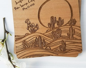 Personalized Coaster, Custom Coaster Wedding Favors, Southwestern Wedding Favors, Laser Engraved Coasters