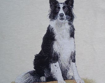 Coupon fabric Panel tapestry BORDER COLLIE