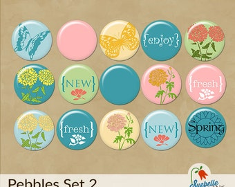 Digital Scrapbooking Embellishments • Pebbles Set 2 • Springtime Fun