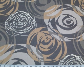 Right On Pewter cotton fabric by the yard Magnolia Home Fashions