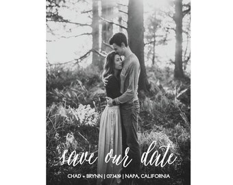 Photo Save the Date Card, Save Our Date, Postcard, Printable Card, Wedding Photo Card, Save the Date Cards