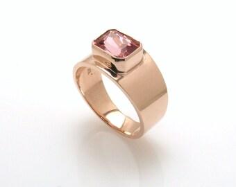 Pink Tourmaline Ring.