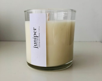 Juniper Scented Artisan Soy Candle