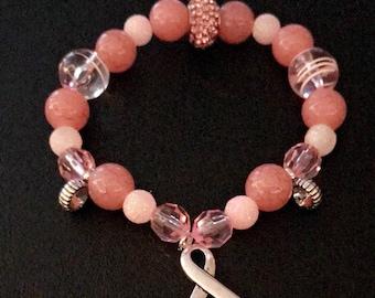 Pink Breast Cancer Bracelet