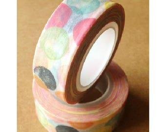 Washi tape (washi) - polka dots birthday party