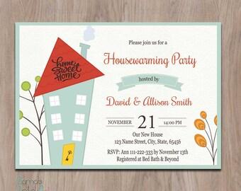 Pumpkin Housewarming Invitation Fall Housewarming Invitation