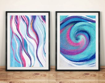 2 pc. Double Wall Art Set Original Photography Art Print Posters