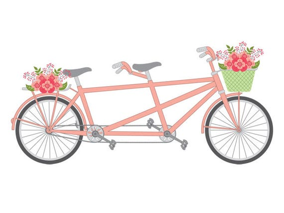 Tandem Bike Clipart Vector
