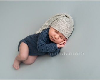 Newborn Photography Prop, Newborn Slouchy Hat, Slouchy Hat, Newborn Hat, Photography Prop, Neutral Prop, Knit Hat, Knot Hat, Baby Knot Hat