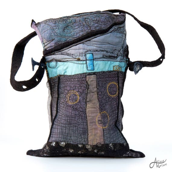 Designer Handbag - Wearable Art Accessories - Outstanding Fiber Art made in Paris