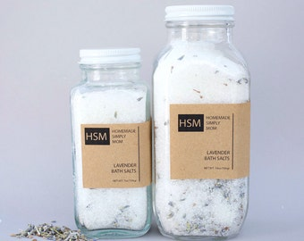Relaxing Lavender Bath Salts, Gifts for her, Muscle relief bath salts, Detox bath soak, Mothers Day Gifts, Bath soak, Bath Salts