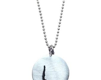 Sterling Silver Yoga Handstand Necklace