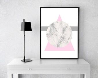 Minimal Scandinavian Wall Art Print - *Digital Downalod* - A4