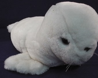 "vintage softtoy made by foerster, high quality, white seal,  11.4"" HANDMADE"