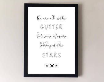 Inspirational quote, motivational print, inspirational print, inspirational wall art, motivational art, typography, sympathy gift, girl gift
