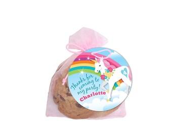 Rainbow Unicorn Favor Tag - Gift Tag, Hang Tags, Thank You Tags, rainbow unicorn theme