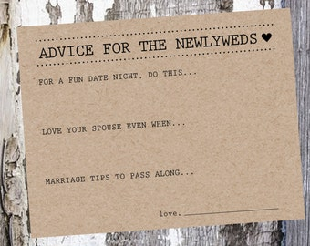 Wedding Advice Card