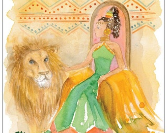 The Queen of Sheba postcard