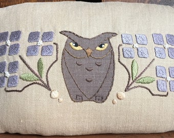 "Roycroft Artisan Embroidery Kit for ""Little Bro"" Owl Pillow, Arts and Crafts"