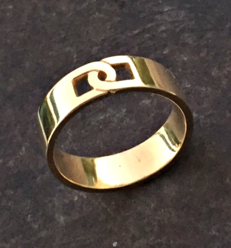 round yellow and for recycled brushed badass size in made wedding s pin ring band your men gold engagement rings mens half bands