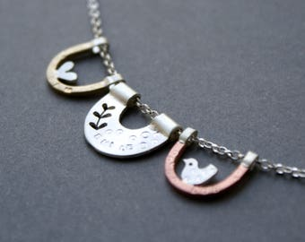 Personalised little nests necklace