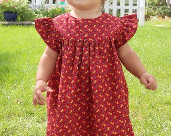 Girl's Prairie Sundress Sizes 1-10