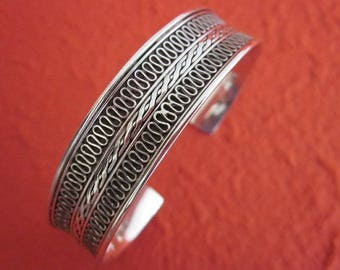 Awesome Balinese Silver sterling Bangle, Handmade Bangle Bracelet, Silver Bangle Bracelet, Jewelry gift