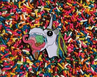 Rainbow Sherbet Unicorn pin