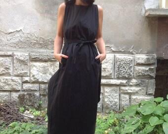 Long dress / Kaftan dress / Maxi dress / Party Dress / Long Top/ Summer Dress/ Extravagant black  dress