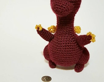 Crochet Dragon, Dragon doll, Stuffed Dragon, Dragon amigurumi, Dragon plush,
