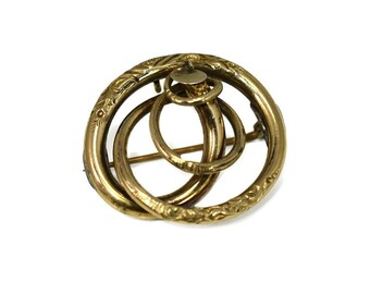 Victorian 14k Gold Love Knot Brooch Pendant Antique Gold Treasure
