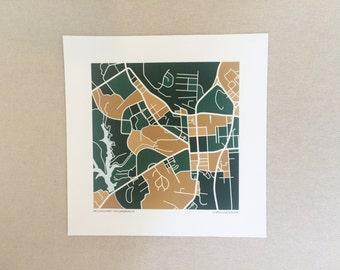 William & Mary Map Print