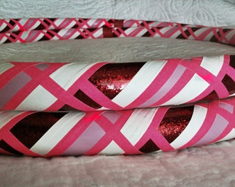 Gretel Dance & Exercise Hula Hoop COLLAPSIBLE or STANDARD - pink white red