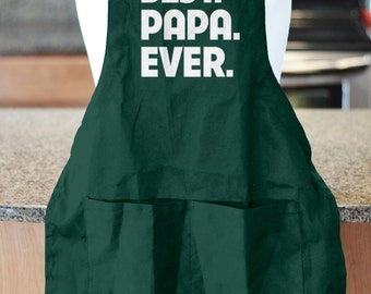Fathers Day Gift, Best Papa Ever, Barbecue Apron, Personalized Gift, BBQ Accessory, New Dad Gift, Gift for Papa, Gift Ideas for Him