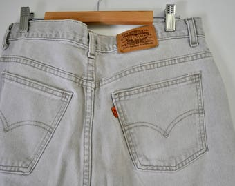 Vintage Levi's - Grey Denim / Rare Orange Tag Levi's / 1970s / High-Waisted Jeans / Vintage Jeans /