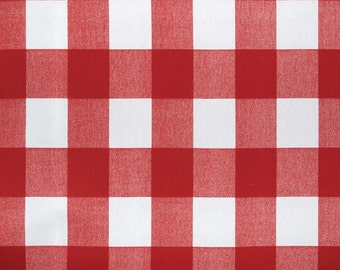 Red Valance. Red and  white. Checkered  Window treatment. Country curtains.  Choose  your sizes