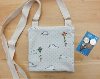 Shoulder Bag, Kite Slouchy Bag, Cross body or Sling Purse