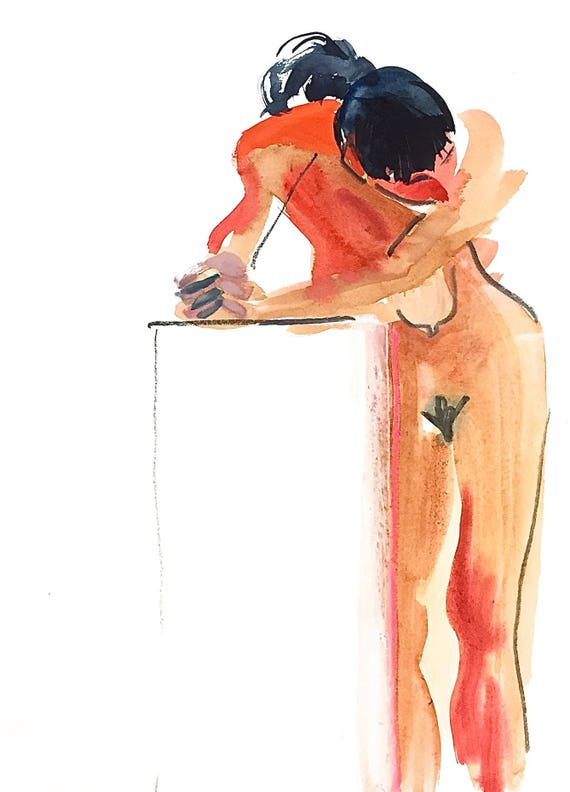 Nude painting- #1472 -original  by Gretchen Kelly