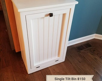 Single Tilt Trash Can or Recycling Bin