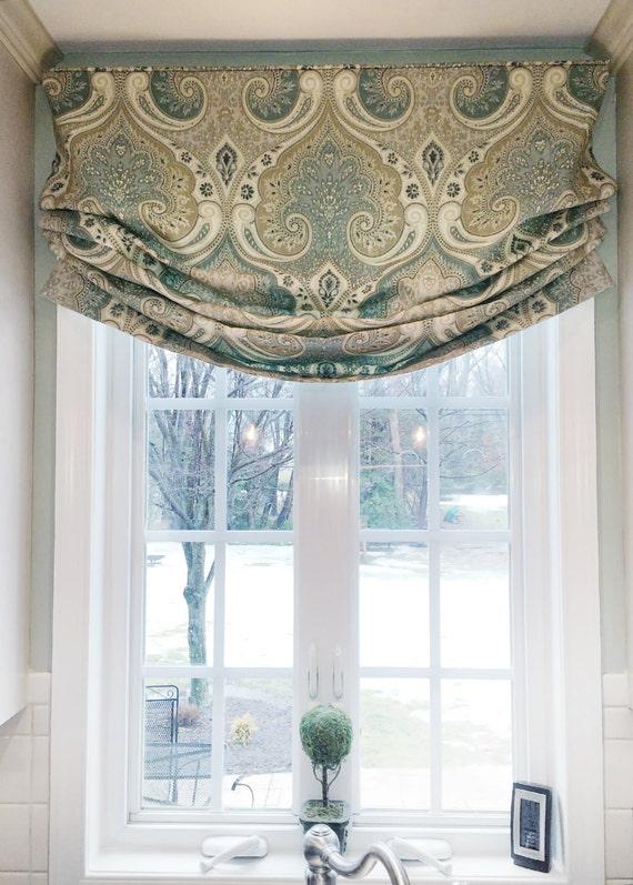 Faux Roman Shade Valance Custom Window Treatment Relaxed