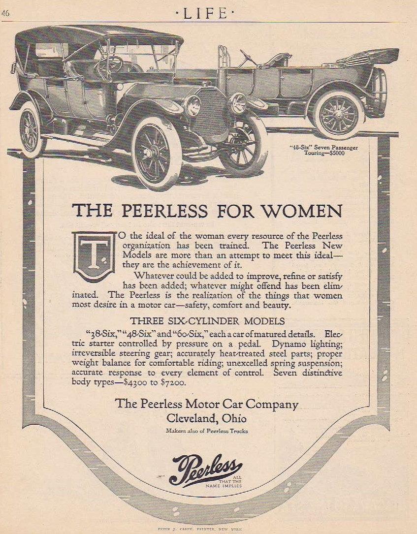 1912 Peerless for Women 48-Six Seven-Passenger Touring Car